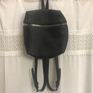 Kara black leather backpack